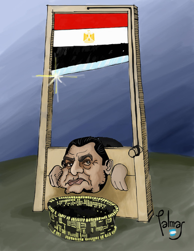 Cartoon: Guillotina (medium) by Palmas tagged egipto