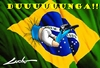 Cartoon: brasil back home vuelve a casa (small) by lucholuna tagged brasil,football,dunga