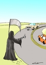 Cartoon: rutas tragicas (small) by lucholuna tagged muerte,rutas,accidentes