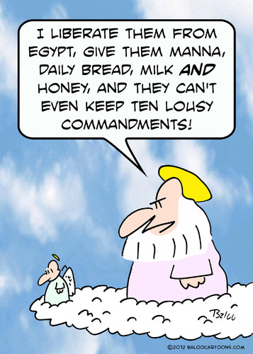 Cartoon: god ten lousy commandments (medium) by rmay tagged god,ten,lousy,commandments