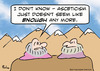 Cartoon: Asceticism isnt enough any more (small) by rmay tagged gurus,asceticism,enough,mountain