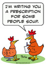 Cartoon: chicken doctor people soup (small) by rmay tagged chicken,doctor,people,soup