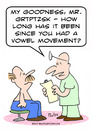 Cartoon: doctor patient vowel movement (small) by rmay tagged doctor,patient,vowel,movement