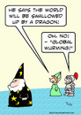 Cartoon: dragon global wurming warming (small) by rmay tagged dragon,global,wurming,warming