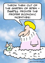 Cartoon: economic incentives god eden gar (small) by rmay tagged economic,incentives,god,eden,gar