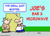 Cartoon: grill got busted microwave bar (small) by rmay tagged grill,got,busted,microwave,bar