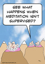 Cartoon: guru meditation not supervised (small) by rmay tagged guru,meditation,not,supervised