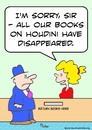 Cartoon: houdini library books disappeare (small) by rmay tagged houdini,library,books,disappeare