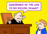 Cartoon: ignorance no excuse law dummy ju (small) by rmay tagged ignorance,no,excuse,law,dummy,judge