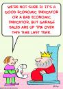 Cartoon: king garage sales economic (small) by rmay tagged king,garage,sales,economic