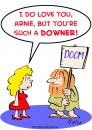 Cartoon: love doom downer (small) by rmay tagged love,doom,downer