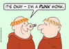 Cartoon: monks punk safety pin nose (small) by rmay tagged monks,punk,safety,pin,nose