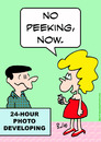 Cartoon: no peeking now (small) by rmay tagged no,peeking,now