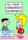 Cartoon: no peeking now esperanto (small) by rmay tagged no,peeking,now,esperanto
