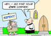Cartoon: repent go find your own corner (small) by rmay tagged repent,go,find,your,own,corner