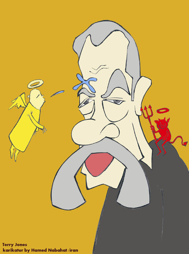 Cartoon: Terry Jones (medium) by HAMED NABAHAT tagged terry,jones